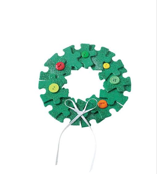 Christmas Decorations Crossword : Puzzle piece ornament christmas