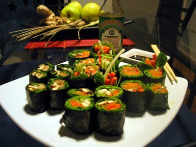 Vegan sushi A Decadent Conspiracy: Ode to the Fat Free Vegan!