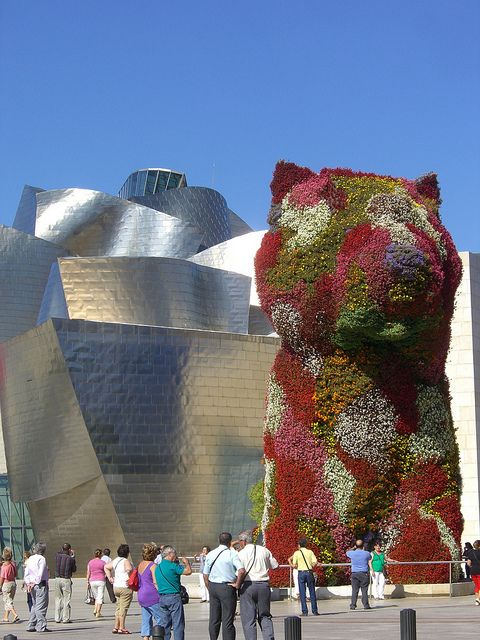 Guggenheim Museum in Bilbao, Spain - I loved the dog made of flowering plants.