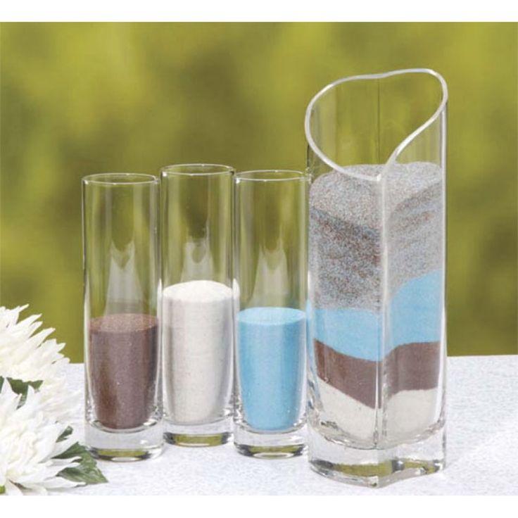 Unity Sand Ceremony Heart Vase Set 4 Vases 327 VL5868 Unity Sand K
