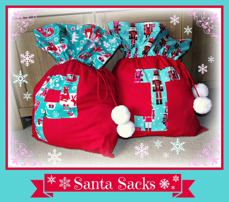 Monogram Santa Sack, Father Christmas Stocking. Beautifully Handmade ...