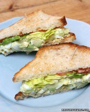 Martha's Favorite Egg Salad Sandwich | What's for Dinner? | Pinterest