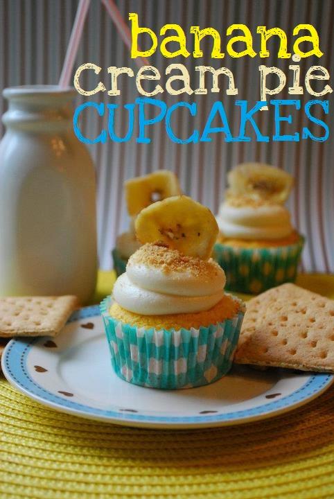 Banana Cream Pie Cupcakes | Cupcakes | Pinterest
