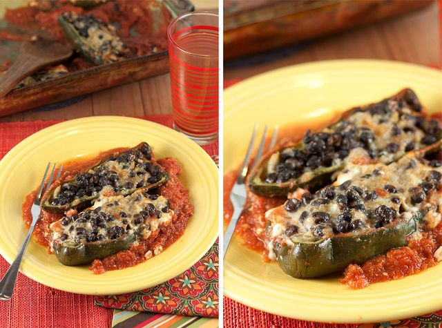 Stuffed Poblanos by Back to the Cutting Board, via Flickr
