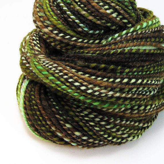 Handspun Yarn : Handspun yarn in forest colors by valentinearts on etsy