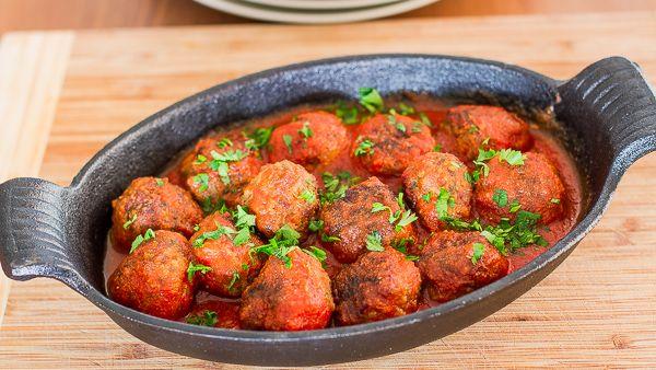 Spicy Ricotta Meatballs in Tomato Sauce | Recipe