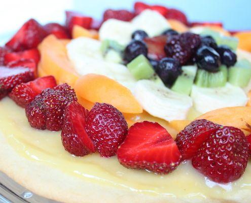 ... fruit pizza ii fresh fruit pizza with lemon curd recipe myrecipes com