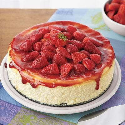 Easy Desserts: Ricotta Cheesecake with Strawberries