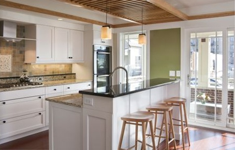 raised bar kitchen island decor pinterest