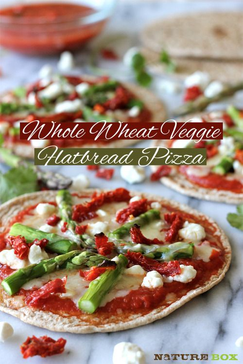 Whole Wheat Veggie Flatbread Pizza | Food | Pinterest