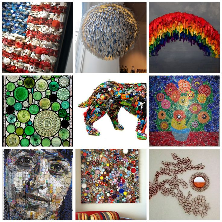 Cool recycled art projects the image for Cool recycling projects
