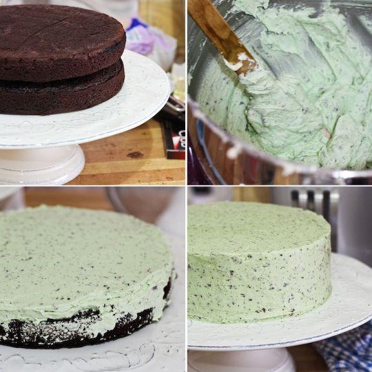 mint chocolate chip cake | Cake Recipes | Pinterest