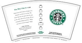 Starbucks printable wrappers creative writing have students design