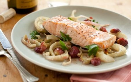 Roasted Salmon and Grapes | Recipe