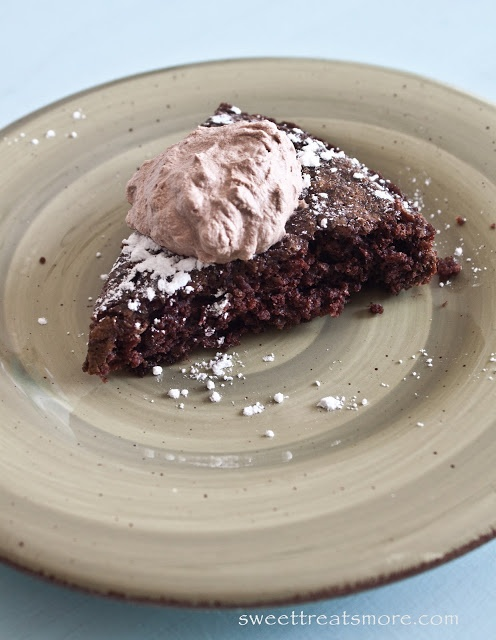 ... Chocolate Chip Zucchini Brownies with Homemade Chocolate Whipped Cream