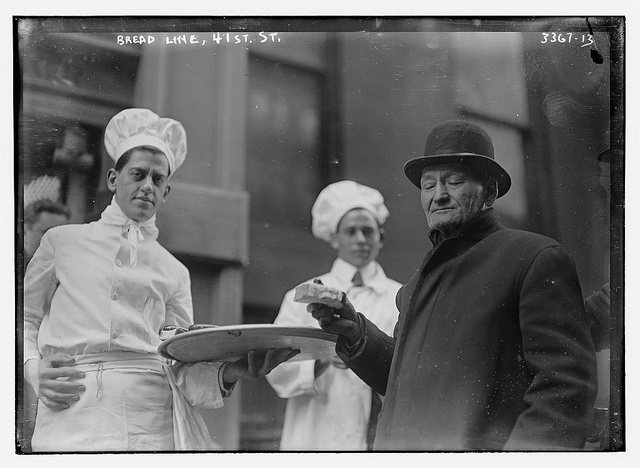Bread line, 41st St., NYC, Library of Congress
