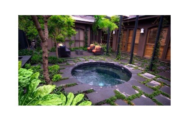 Garden Courtyard Hot Tub Future Shipping Container Home