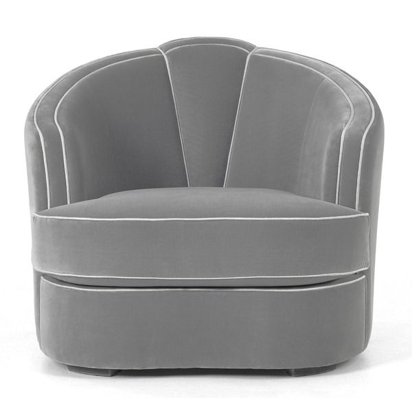 Grey really is sexy. In lust with this sleek Art Deco inspired chair by MUNNA. | The Decorating Diva, LLC