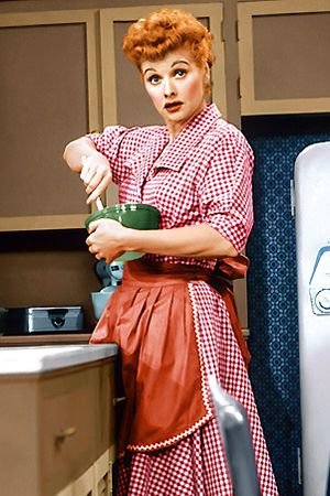 Lucy cooking up something yummy! #vintage #1950s #homemakers #actresses #Lucy