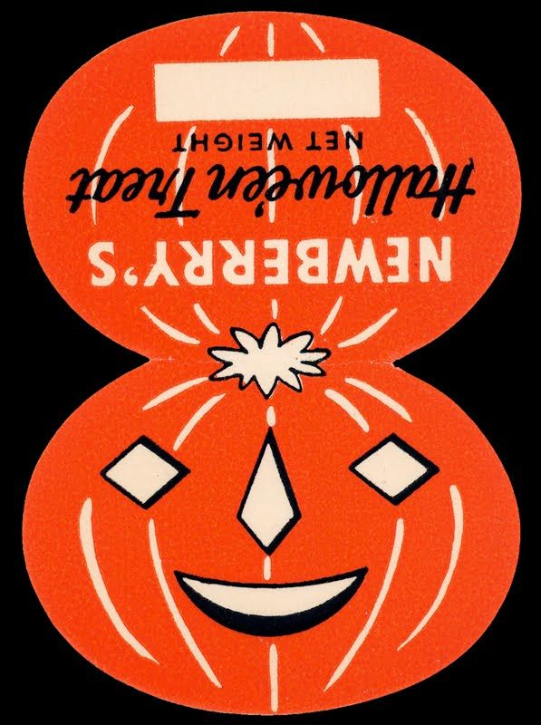 Vintage halloween candy label halloween inspiration pinterest