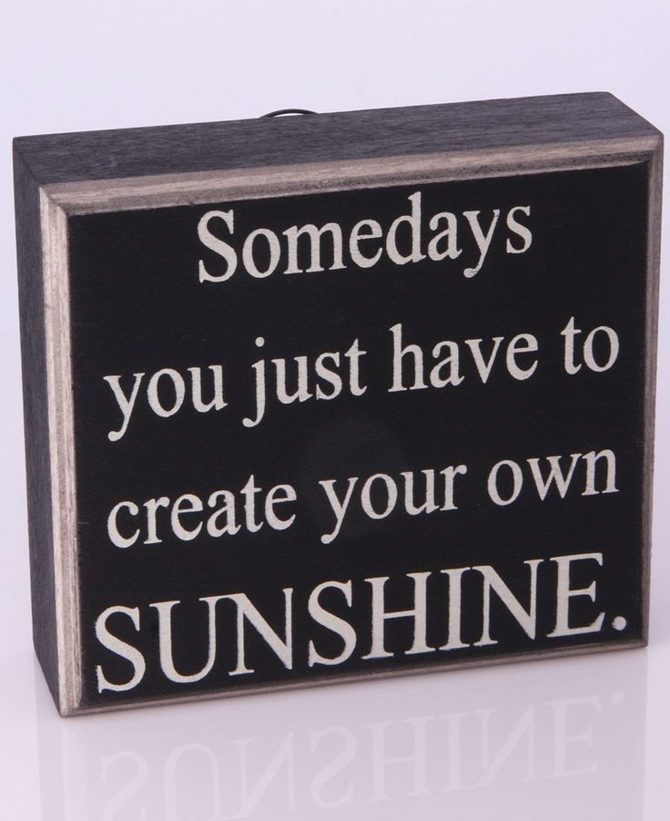 inspirational vintage wall sign sunshine quote