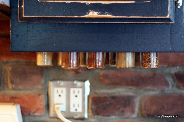 Spice storage under cabinet my life needs organization for Under counter spice storage