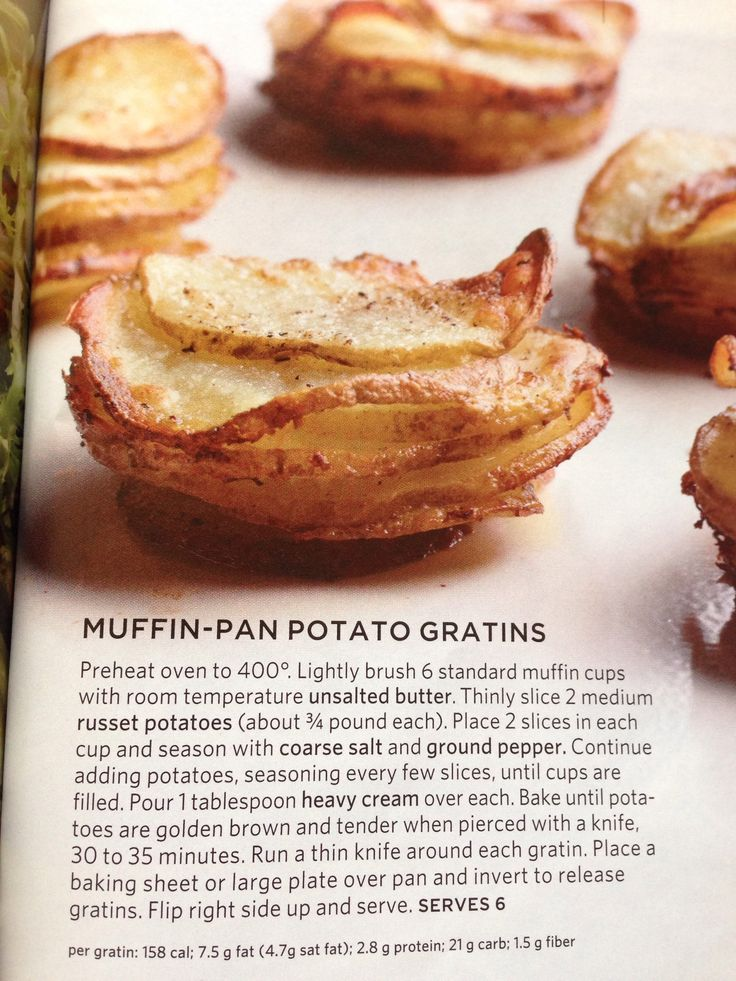 Muffin-Pan Potato Gratins (pic only) ~ made with almond milk instead ...