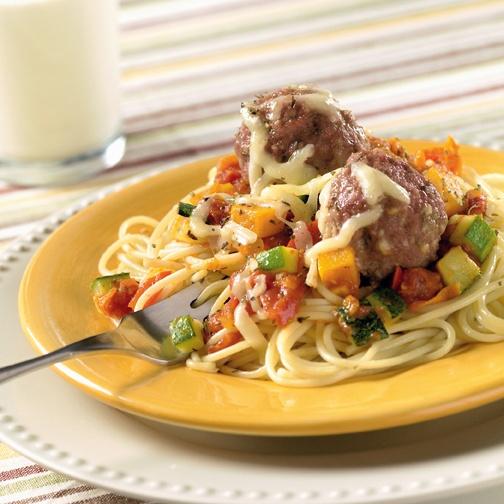 Spaghetti and Cheesy Turkey Meatballs | Recipes & Kitchen Hints | Pin ...