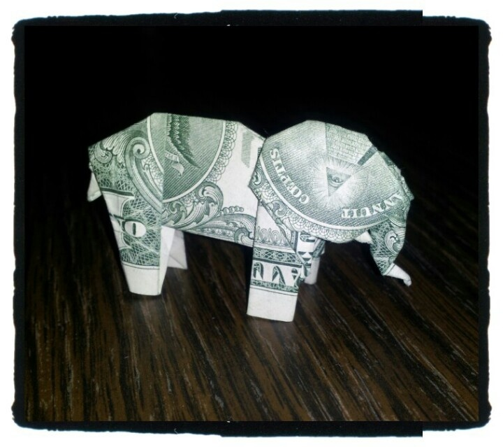 elephant money origami pinterest