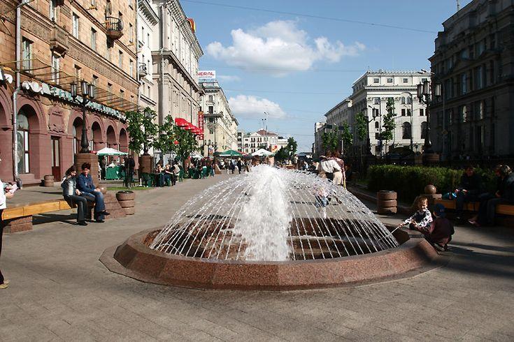 Fountains in lenin street minsk