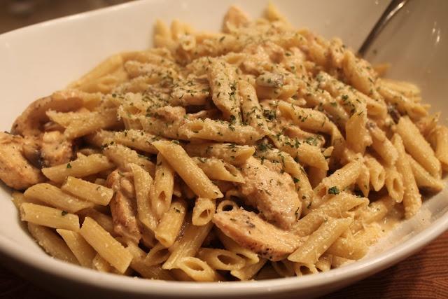 Creamy Chicken Marsala Pasta   Mrs. Schwartz's Kitchen