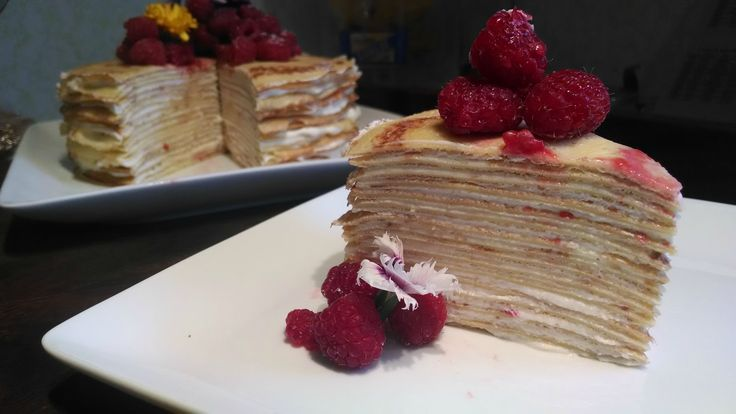 Crepe cake - 18 crepes with lemon mascarpone whip cream and ...