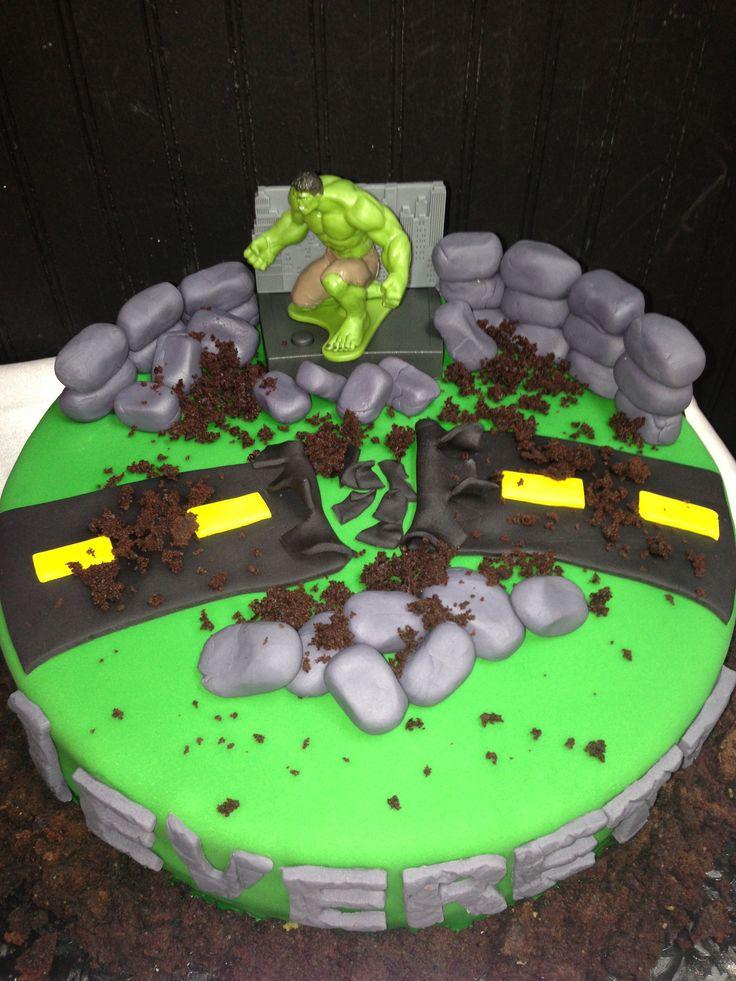 Hulk cake  Fête  Pinterest