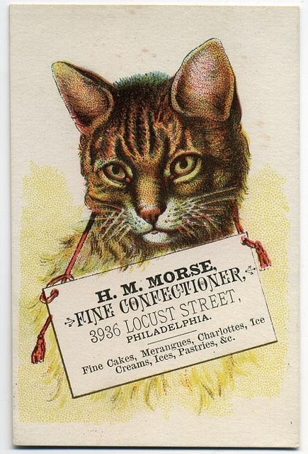 """H. M. Moore Fine Confectioner    """"H. M. Moore, fine confectioner, 3936 Locust Street, Philadelphia. Fine cakes, merangues, charlottes, ice creams, ices, pastries, """""""