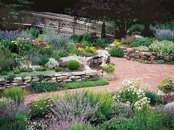 Sunny perennial garden ideas photograph pin by pam buell o for Sunny landscape designs