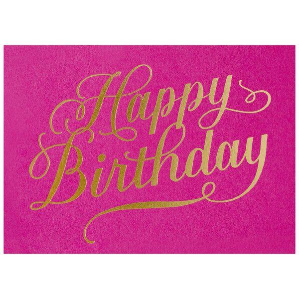 Happy Birthday Calligraphy Fuchsia Birthdays Pinterest