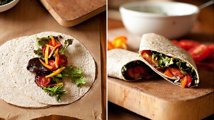 Garden Veggie Wrap | food | Pinterest