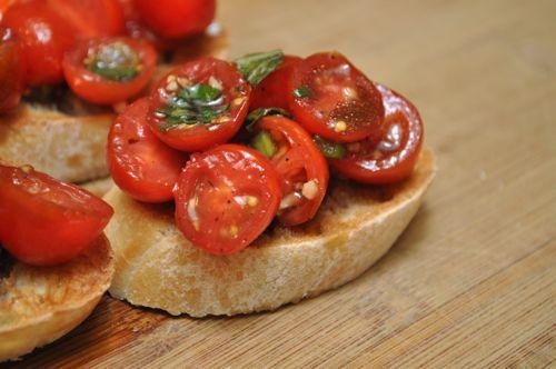 Marinated Tomato Bruschetta | Recipes I've Made and Ate | Pinterest