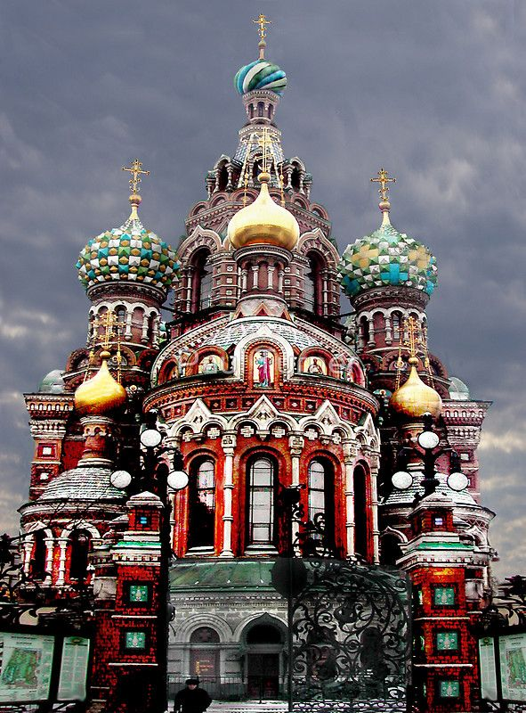 Travel around the world The Church of the Resurrection, Saint Petersburg, Russia