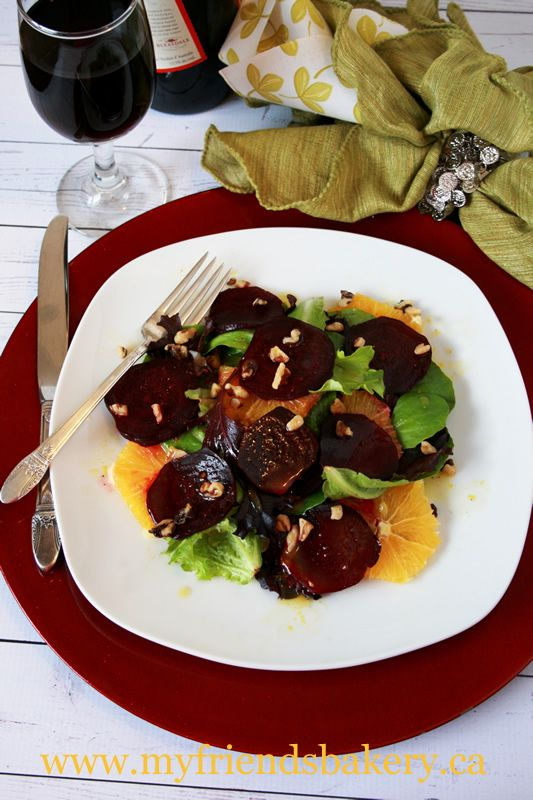 Roasted Beet And Orange Salad With Honey Orange Dressing | My Friend's ...