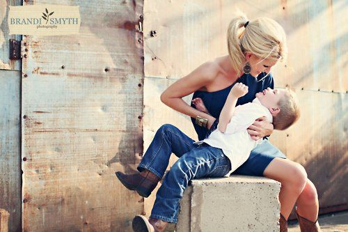Sweet Mother & Son Country Photo