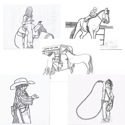 team roping coloring pages - photo#21