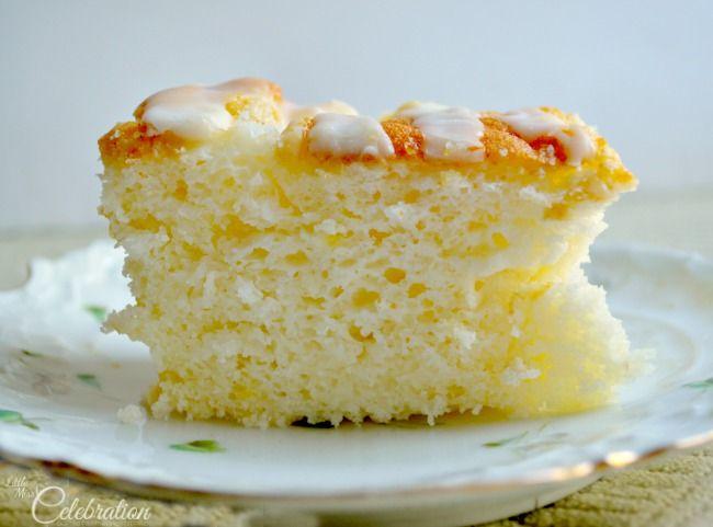 Lemon Chiffon Cake with Glacé Lemon Icing