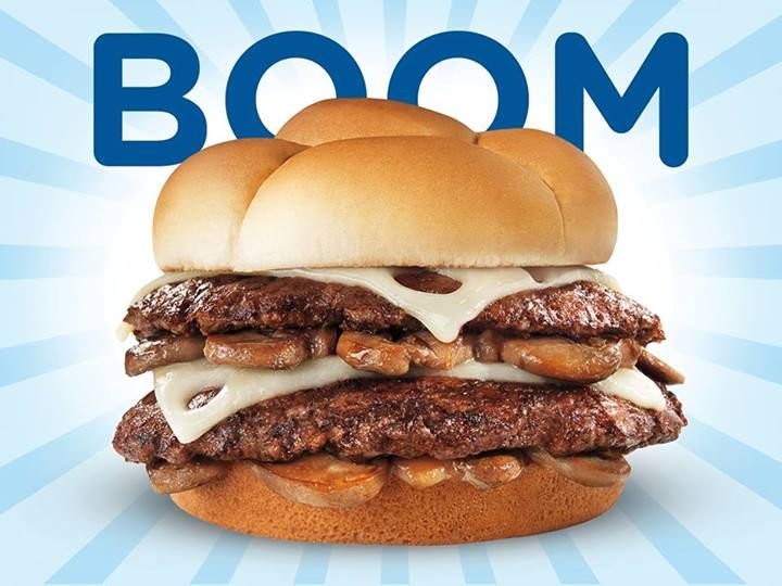BOOM. That's right. Mushroom Swiss Double Cheese Burger @ Culver's.