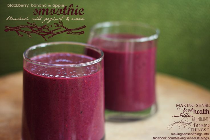 Blackberry-Yogurt Smoothies Recipes — Dishmaps