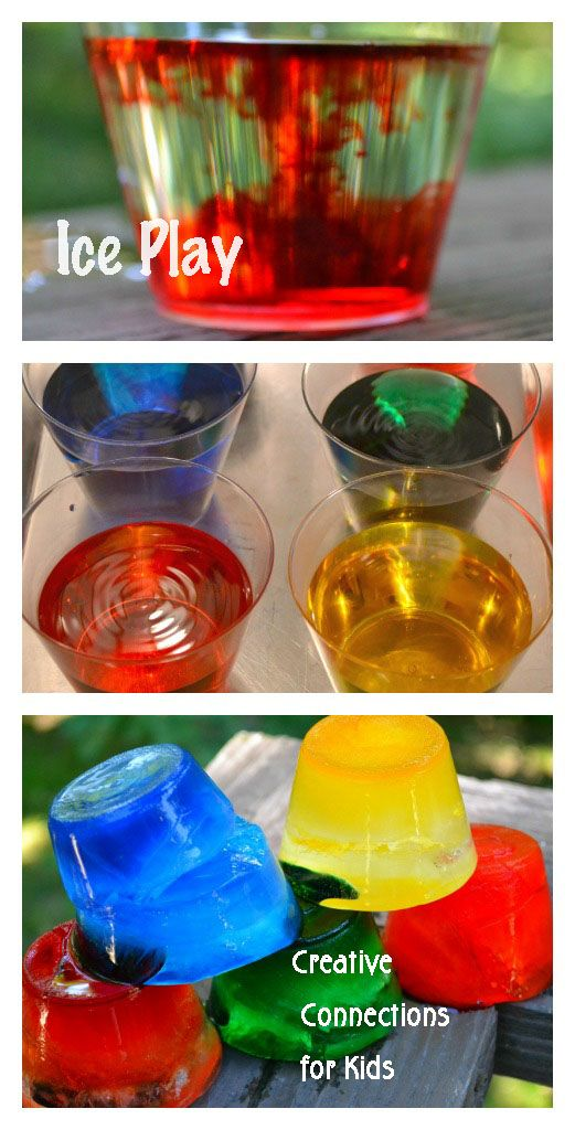 Ideas for colorful ice play. Creative Connections for Kids