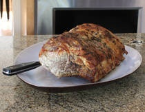 Garlic and Herb Crusted Pork Loin Roast with my changes: mince 12 - 14 ...