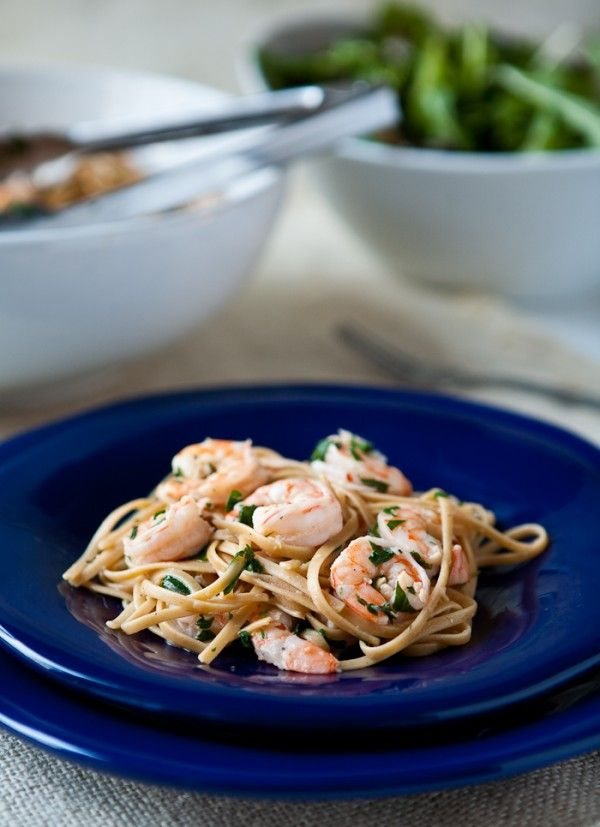 Shrimp Scampi over Whole Grain Linguini from Eclectic Recipes (http ...