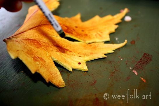 Paper-clay Leaves  Tutorial