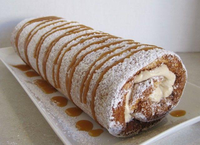 Caramel Banana Cake Roll. | Cakes | Pinterest